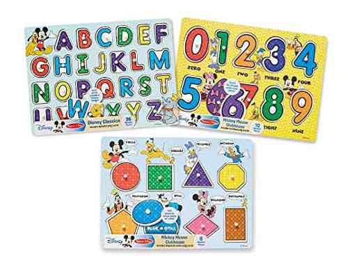 Melissa & Doug Disney Classics Alphabet Wooden