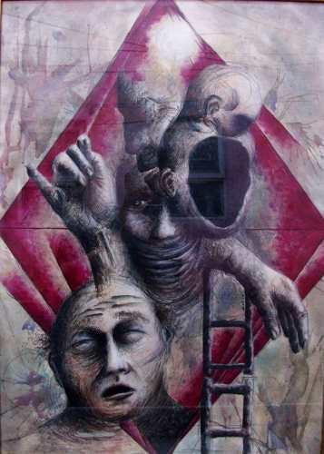 Obra De Arte Original. Mixta. Vinculaciones. Jage.artwork