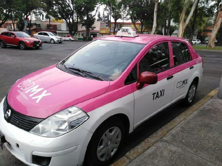 Venta de taxi con placas de la CDMX