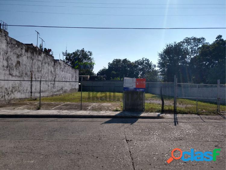 Renta terreno 800 m² col. santiago de la peña tuxpan veracruz, santiago de la peña
