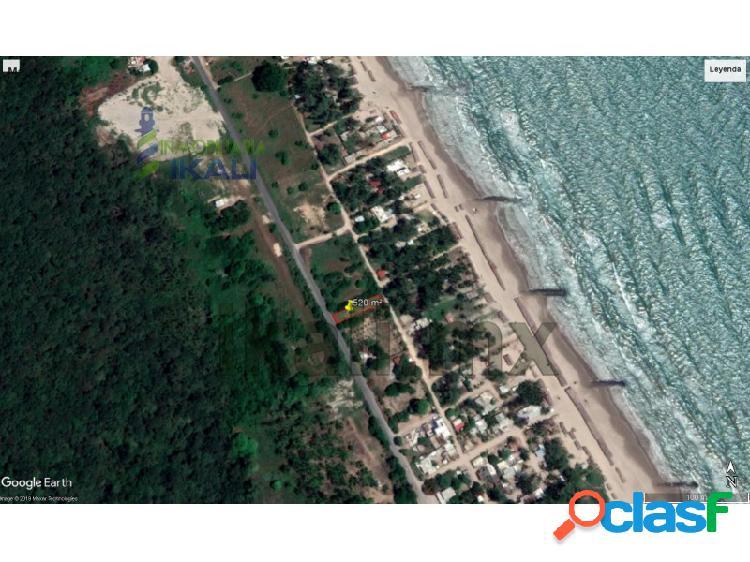 Venta terreno 520 m² carretera termoeléctrica playa tuxpan veracruz, la barra norte