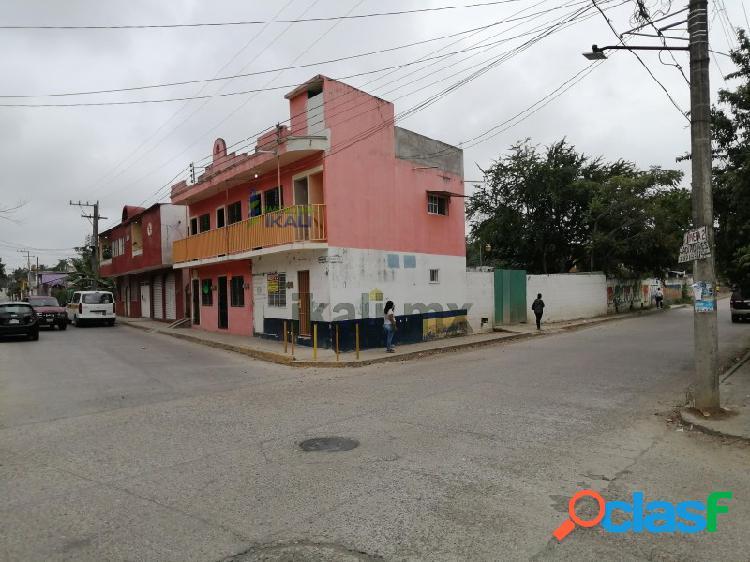 Renta local comercial con terreno en esquina col. anahuac tuxpan veracruz, anáhuac
