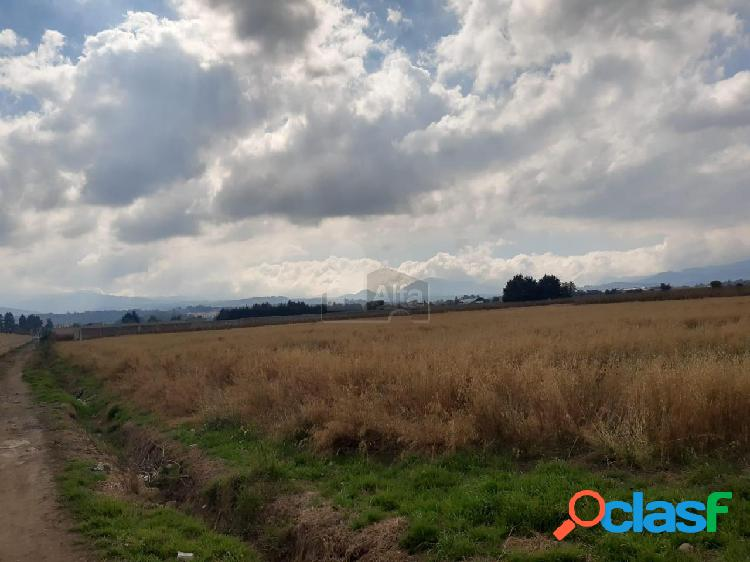 Terreno habitacional en venta en san juan de las huertas, zinacantepec, méxico
