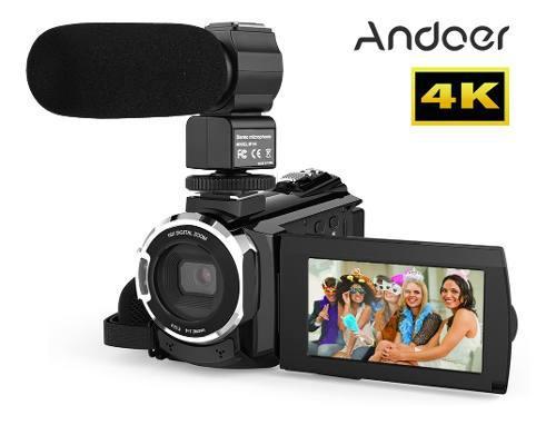 Andoer 4k 1080p 48mp wifi cámara de vídeo digital