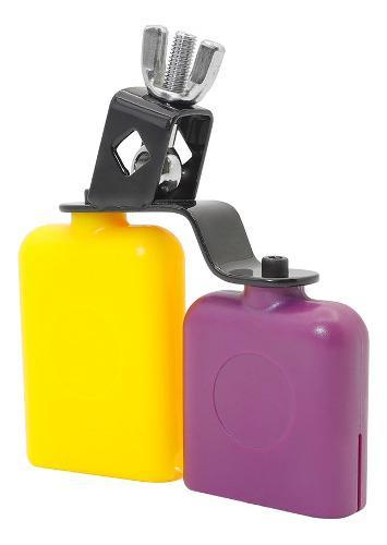 Cencerro bicolor para conjunto de batería tonos altos y