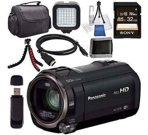 Panasonic hc-v770 hc-v770k videocámara full hd sony 32 gb