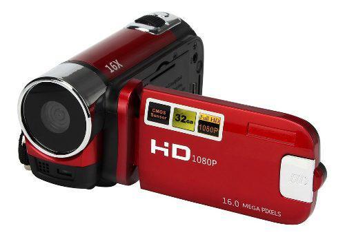 Videocamara video con zoom digital hd 1080p enchufe rojo ue