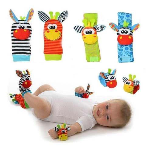 Calcetines correa juguete bebe animales sonidos estimulantes