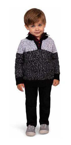 Conjunto formal niño bebe pantalón camisa suéter 3 piezas