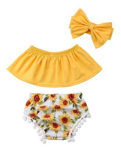 Conjunto ropa bebé verano 3 piezas de algodón envío