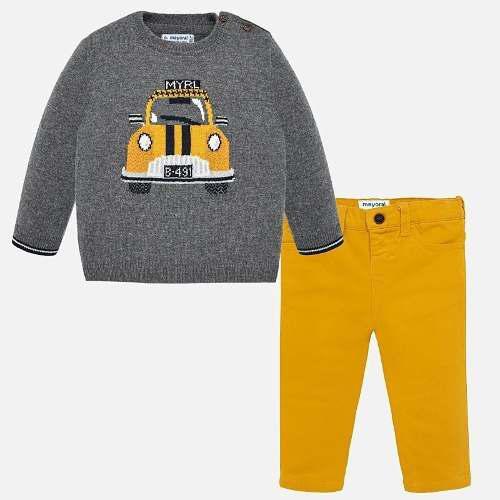 Conjunto suéter tejido y pantalon mayoral bebe niño 2546 b