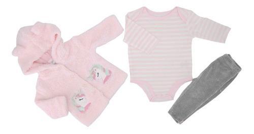 Conjunto tres piezas para niña suéter aborregado 04327