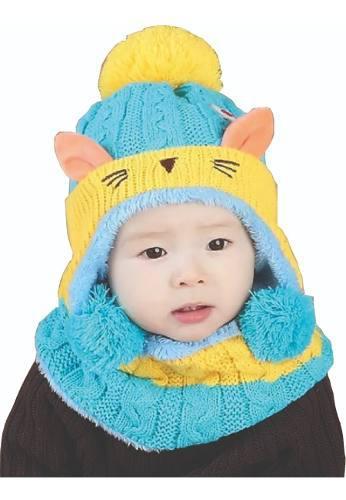 Gorro de bebe bufanda invierno 2 piezas de 12 a 48 meses