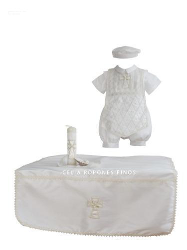Juego de bautizo niño mod. rodrigo - ropones celia