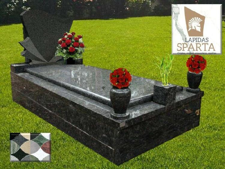 Lapidas modernas de granito negro y grabados láser
