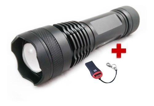 Lámpara táctica 10,000 lms nuevo led t9 largo alcance