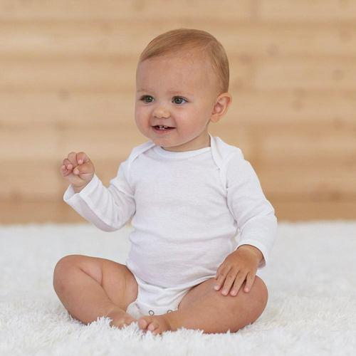 Pañalero blanco manga larga algodon suave 100% 3 a 12 meses