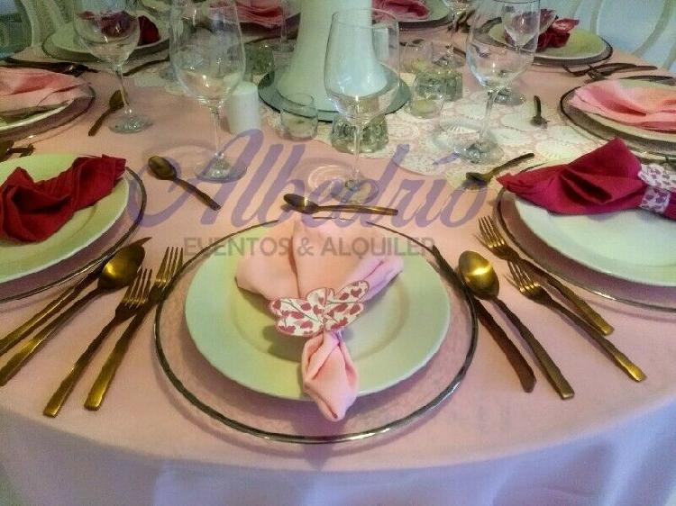 Renta cubiertos rose gold para evento puebla