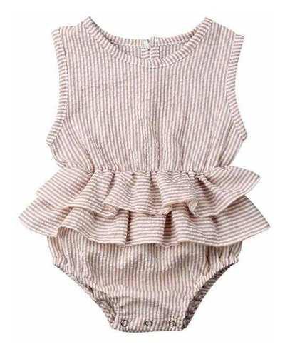 Ropa casual moda para niñas bebé pañalero rosa melon