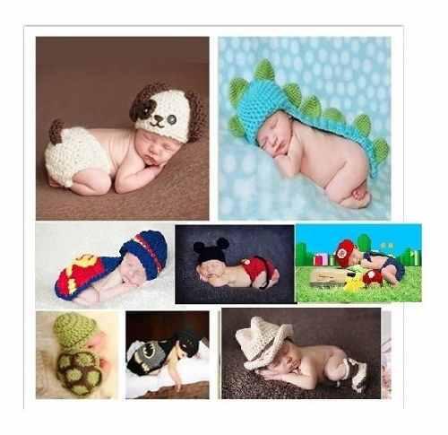 Ropa crochet recien nacido modelo niño sesion fotos