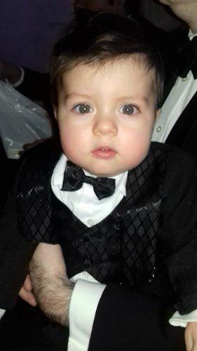 Traje smoking negro pingüino boda bebé niño # 00 a 4