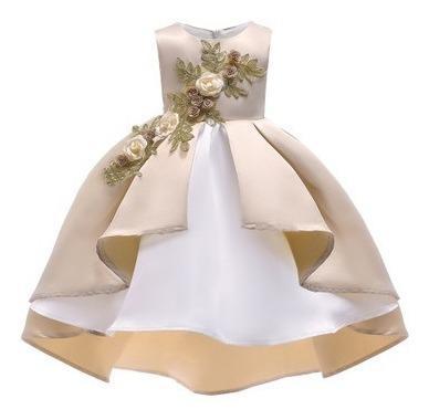 Vestido corto para niñas para fiesta de 100cm de largo