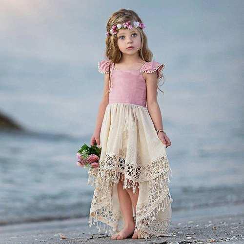 Vestido hippie vintage niña bebe fresco moda fiesta indie