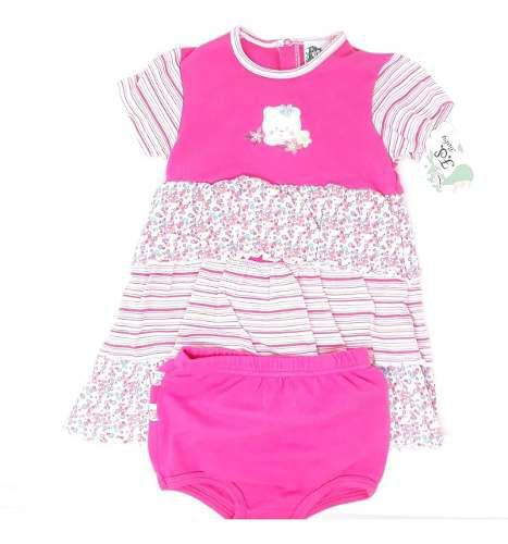 Vestido ropa para bebe niña fsbaby 2 pza tipo carters 11291