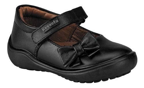 Zapato escolar niña coqueta 170301-a negro piel 13-17 t4