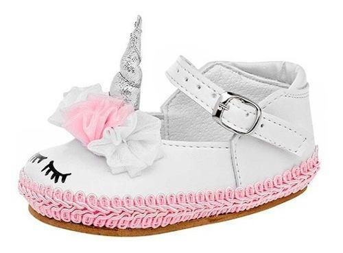 Zapato unicornio bebe niña zapatito blanco moda