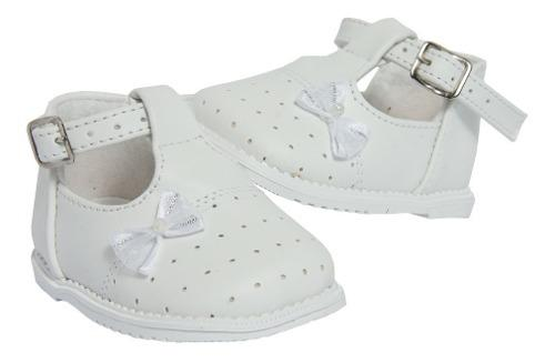Zapatos de bebe para bautizo 029 moño diseños carycar