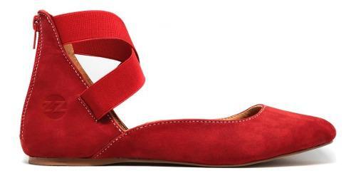 Zapatos niña frenezzo flats spirit 2000 piel rojo