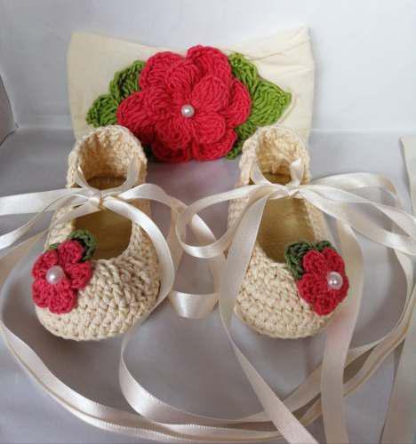 Zapatos Tejidos Tiara Para Bebé Pastel Ballet