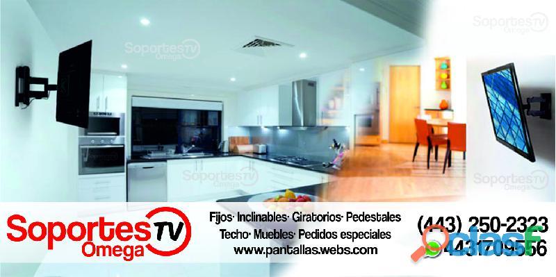 Soportes para tv en morelia venta e instalación profesional