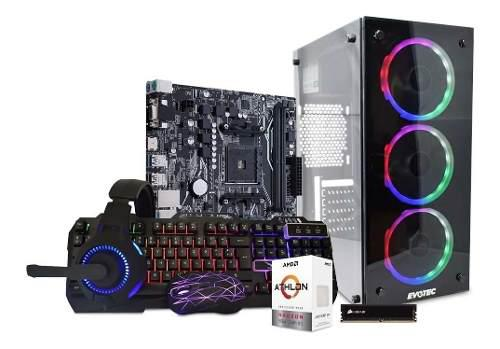 Computadora pc gamer amd radeon vega 3 hdd 1tb 8gb kit gamer