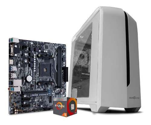 Computadora pc gamer amd ryzen 5 hdd 1tb ram 8gb kit gamer