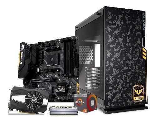 Computadora pc gamer gtx 1050 2gb ryzen 3 1tb 8gb 80+ tuf