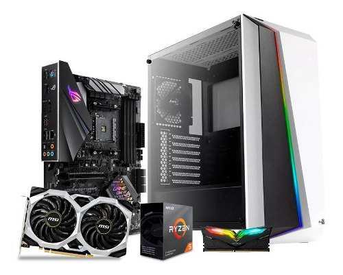 Computadora pc gamer gtx 1660 ti ryzen 5 hdd 1tb ram 8gb 80+