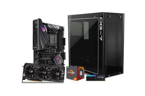 Computadora pc gamer rtx 2060 6gb ryzen 5 1tb 8gb rog 80+