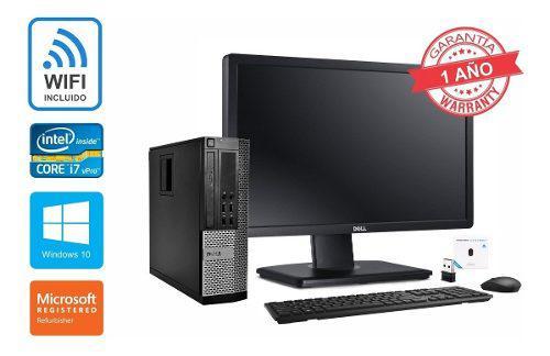 Computadoras dell/hp core i7 8gb 500gb monitor 22 wifi