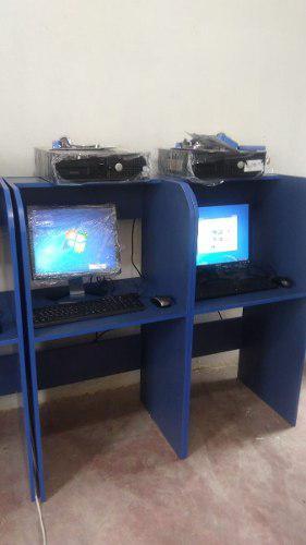 Paquete 5 computadoras para ciber café módulos