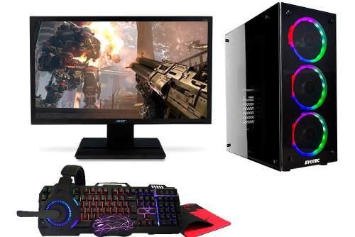 Pc gamer completa amd a8 radeon7 16gb 2tb wifi windows led20
