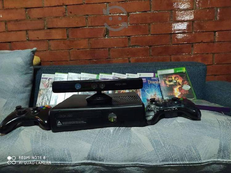 Xbox 360 con Kinect 2 controles y juegos
