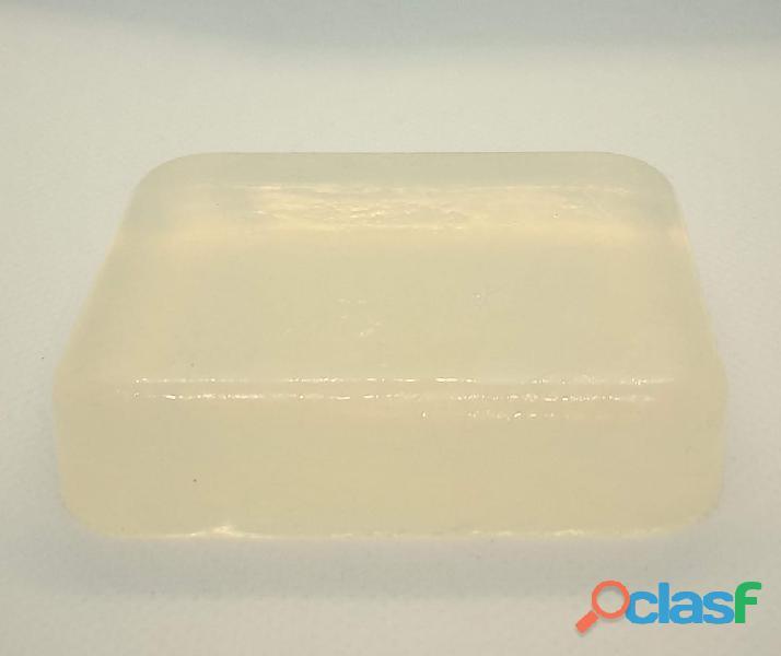 Barra Base Jabón Glicerina Básica 1kg Transparente Bloque 2