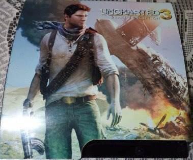 Hermosa consola ps3 edicion especial de uncharted.