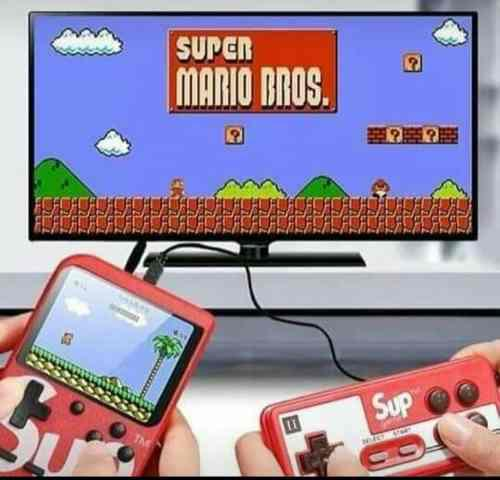 Mini consola retro de videojuegos con 400 juegos clásicos