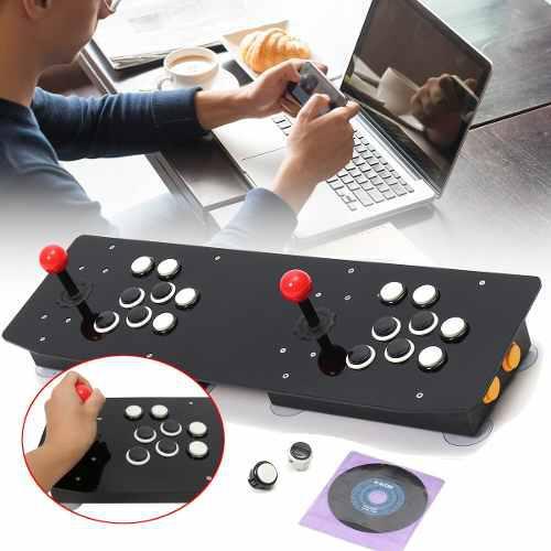 Nueva consola doble arcade videojuego joystick controlador a