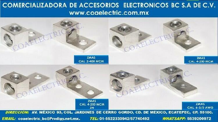 Zapatas mecánicas aluminio 1,2,3,4,6,