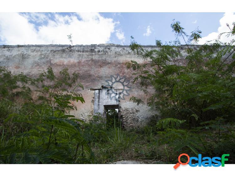 En venta terreno con casona y cenote en Temozón 2