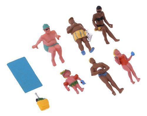 6 piezas 1/87 modelo ho escala pintada personas trabajadores